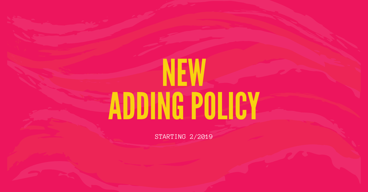 New Adding policy